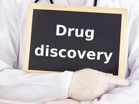 drug discovery: Doctor shows information: drug discovery
