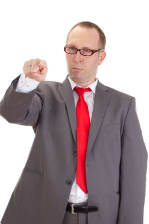 agency agreement: Businessman pointing at something Stock Photo