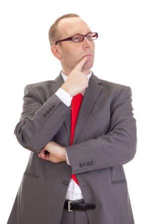 Businessman thinking about something Stock Photo