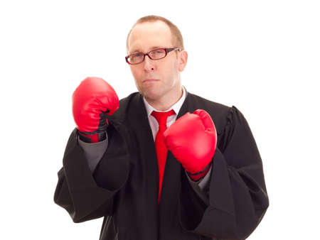 statute: Lawyer with boxing gloves