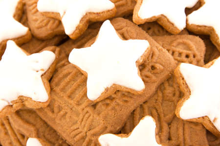 Closeup of christmas cookies photo