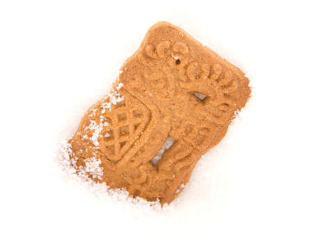cooky: Speculoos in snow Stock Photo
