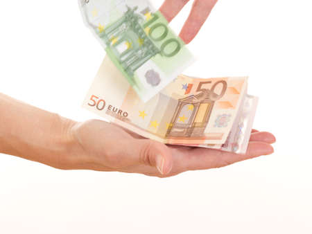 Giving somebody money Stock Photo - 16318185