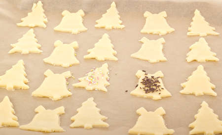 Baking cookies for christmas photo