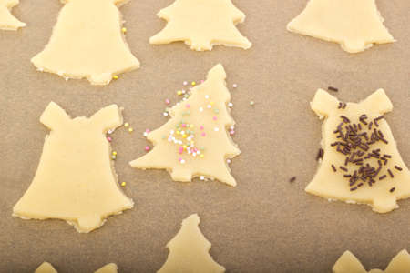 Baking cookies for christmas Stock Photo - 16419507