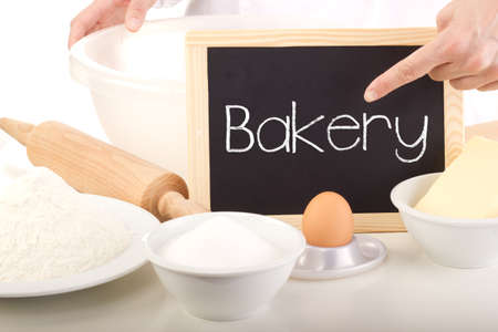 Blackboard showing: bakery photo