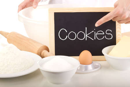 Blackboard showing: cookies photo