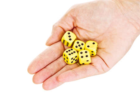 Hand with some dice photo
