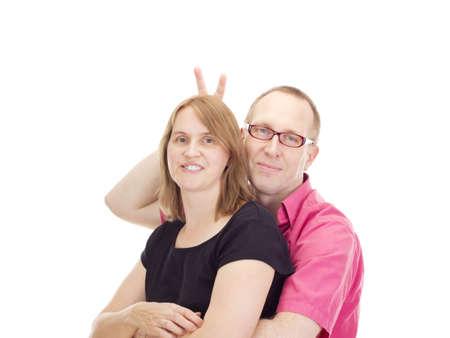 pareja de esposos: Pareja se cas?