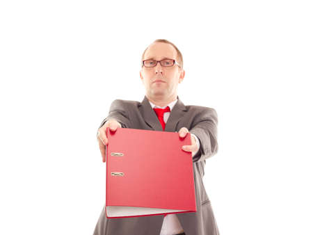 Businessman with ring binder Stock Photo - 16567530