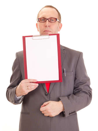 Businessman with clipboard Stock Photo - 16613681