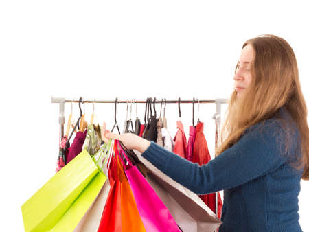 Person on shopping tour Stock Photo - 16803263
