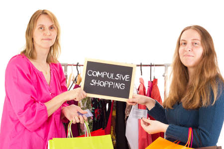 compras compulsivas: Las personas en viaje de compras: compras compulsivas