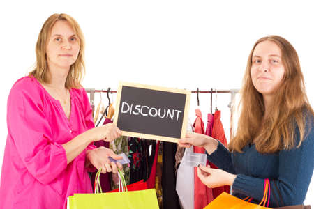 People on shopping tour: discount photo