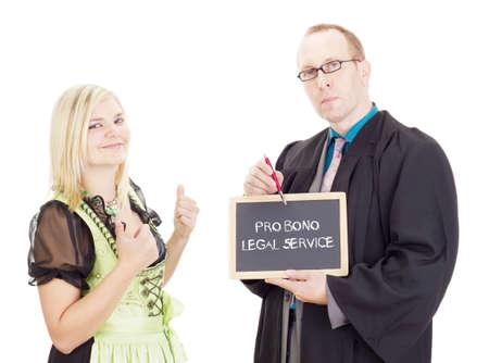 bono: Young woman needs help: pro bono legal service