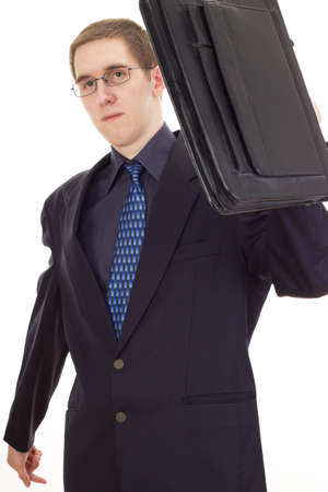 agency agreement: Young businessman with briefcase