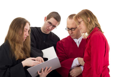 Conducting a lawsuit Stock Photo - 17278347