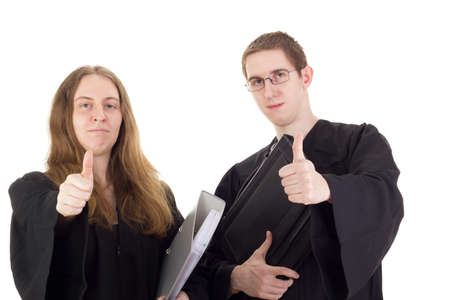 disposer: Conducting a lawsuit Stock Photo