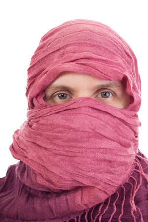 Woman wearing headscarf photo