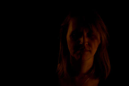 blackly: Woman in the darkness