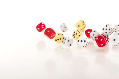 Throwing dice photo