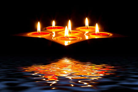 Tea light candles photo