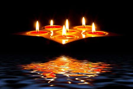 Tea light candles Stock Photo - 18027763