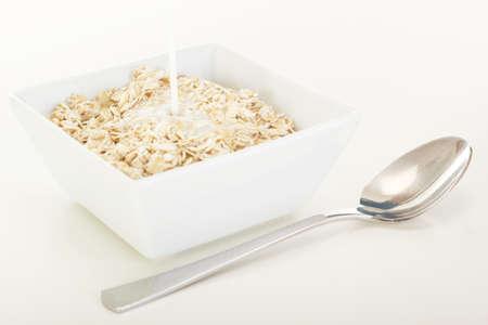 avena en hojuelas: Copos de avena con leche