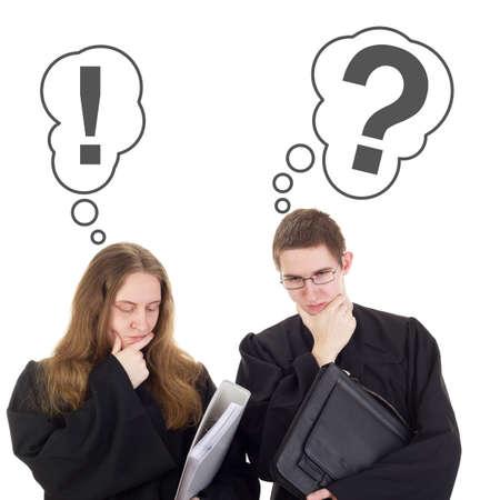 Conducting a lawsuit Standard-Bild