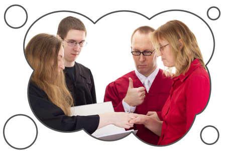 Conducting a lawsuit Stock Photo - 18569563