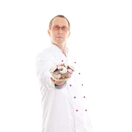 Chef with gingerbread Stock Photo - 18574288