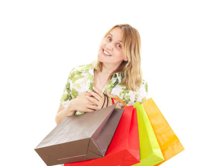 Beautiful woman on shopping tour photo