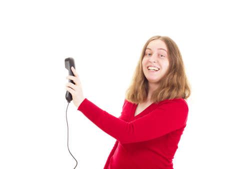 Young woman calling somebody Stock Photo - 18907891