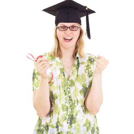 collegian: Happy female graduate