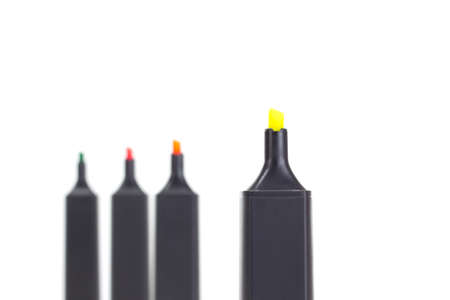 characterization: You need a fluorescent yellow highlighter? Stock Photo