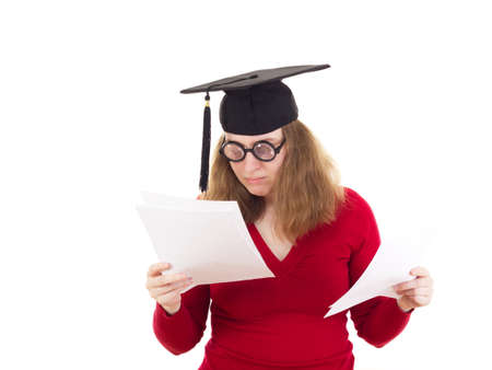 collegian: Female graduate reading through her exam