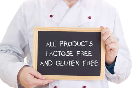 malabsorption: All products lactose free and gluten free Stock Photo