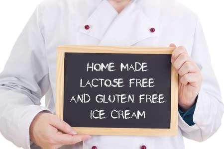 coeliac: Home made lactose free and gluten free ice cream