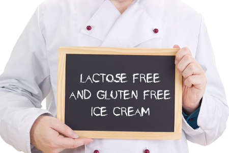 Lactose free and gluten free ice cream photo