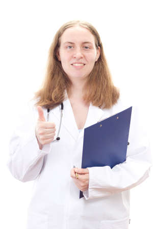 Medical doctor show good sign photo