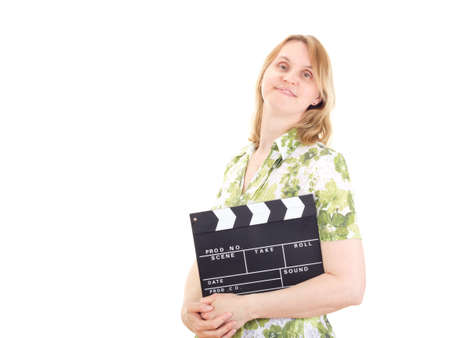 Female producer ready to shoot the new movie photo