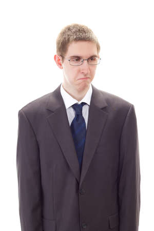 depressive: Young sad businessman has been fired Stock Photo
