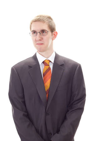 Young businessman thinking about problem solution