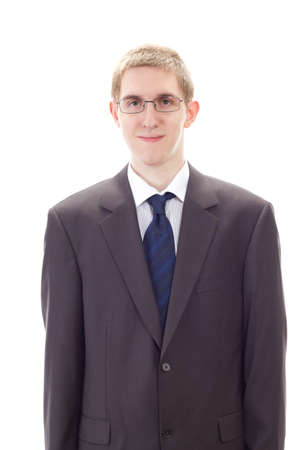 independent financial adviser: Young businessman ready for his first working day