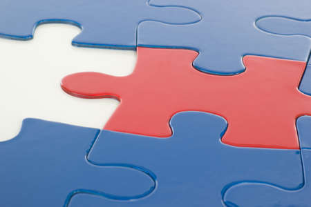 cohesiveness: Where is the last puzzle piece  Stock Photo