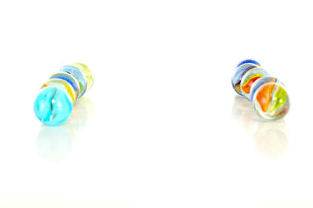 murmur: Colourful marbles on white background