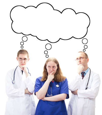 med: Medical team thinking about something