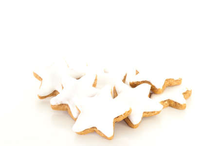 shaped: Star shaped cinnamon biscuit Stock Photo