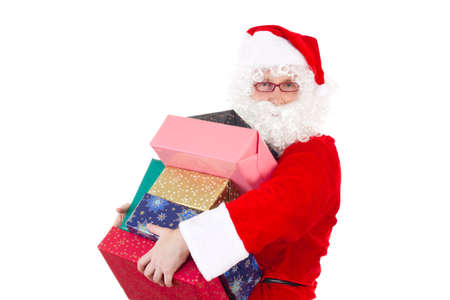 Santa Claus bringing some gifts to your home photo