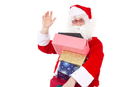 Good evening  I am Santa Claus bringing some gifts to you